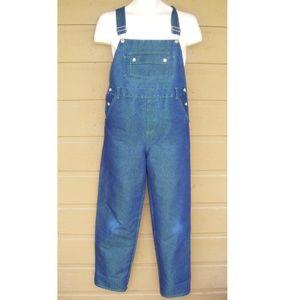 Vintage Overalls, Size 12, Blue w/Green bleed-thru